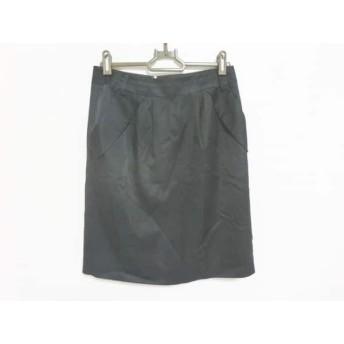 【中古】 ジャスグリッティー JUSGLITTY スカート サイズ2 M レディース ダークネイビー