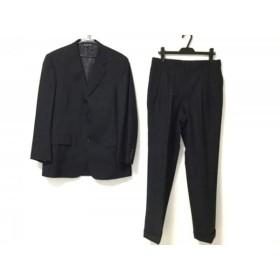 【中古】 ブルックスブラザーズ シングルスーツ サイズ38 M メンズ 新品同様 ダークネイビー グレー