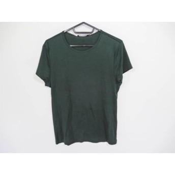 【中古】 ラルフローレン RalphLauren 半袖Tシャツ サイズ5f M レディース ダークグリーン