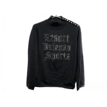 【中古】 バレンザスポーツ 長袖セーター サイズ40 M レディース グレー ハイネック/ビーズ