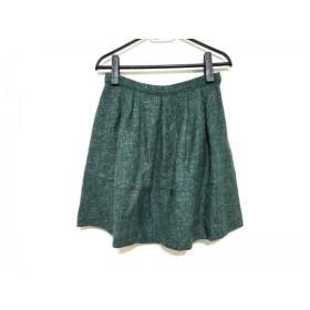 【中古】 チェスティ Chesty スカート サイズ1 S レディース 美品 グリーン アイボリー