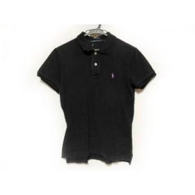 【中古】 ラルフローレン RalphLauren 半袖ポロシャツ サイズL L レディース 黒
