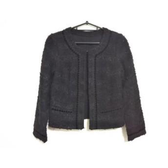 【中古】 ジャスグリッティー JUSGLITTY ジャケット サイズ1 S レディース 美品 黒