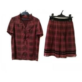 【中古】 ストロベリーフィールズ スカートセットアップ サイズ2 M レディース 美品 ボルドー 黒