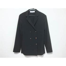 【中古】 ルシェルブルー ジャケット サイズ38 M レディース 黒 シースルー/春・秋物 ポリエステル