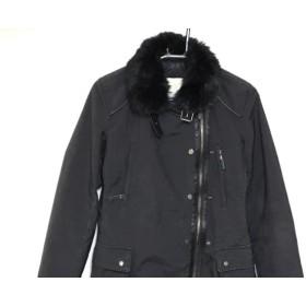 【中古】 ヘンリーコットンズ Henry Cotton's コート サイズ40 M レディース 黒 ラビットファー/冬物