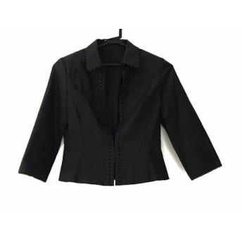 【中古】 アリスバーリー ジャケット サイズ9 M レディース 黒 肩パッド/ビーズ ポリエステル 綿 綿