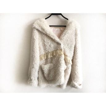 【中古】 リズリサ LIZLISA コート サイズ0 XS レディース 白 アイボリー 冬物/レース
