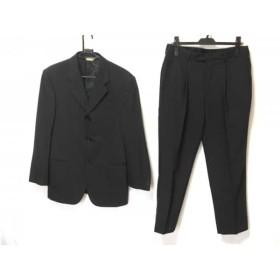 【中古】 ダナキャランシグネチャー DONNAKARAN SIGNATURE シングルスーツ メンズ ダークグレー 肩パッド