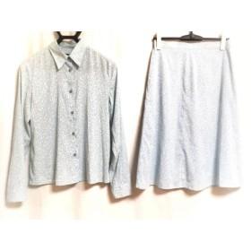【中古】 カルバンクライン スカートセットアップ サイズ4 XL レディース ライトブルー 白 ドット柄