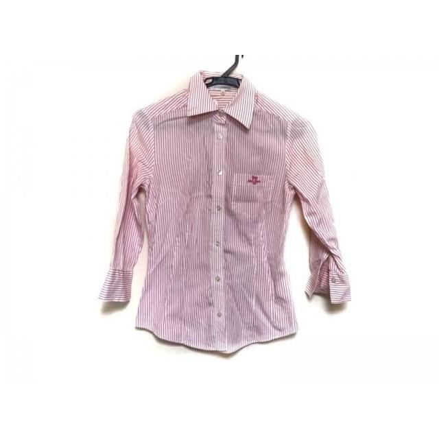 【中古】 ナラカミーチェ 七分袖シャツブラウス サイズ0 XS レディース 白 ピンク ストライプ