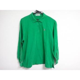 【中古】 マンシングウェア Munsingwear 長袖ポロシャツ サイズL レディース グリーン
