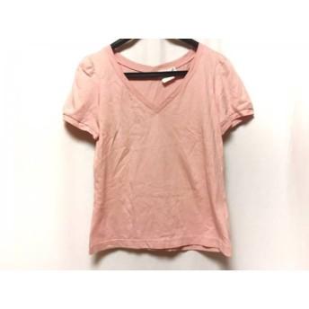 【中古】 アニエスベー agnes b 半袖Tシャツ サイズ2 M レディース ピンク Vネック