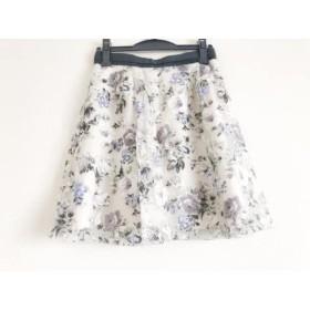 【中古】 アプワイザーリッシェ Apuweiser-riche スカート サイズ2 M レディース 美品 白 マルチ