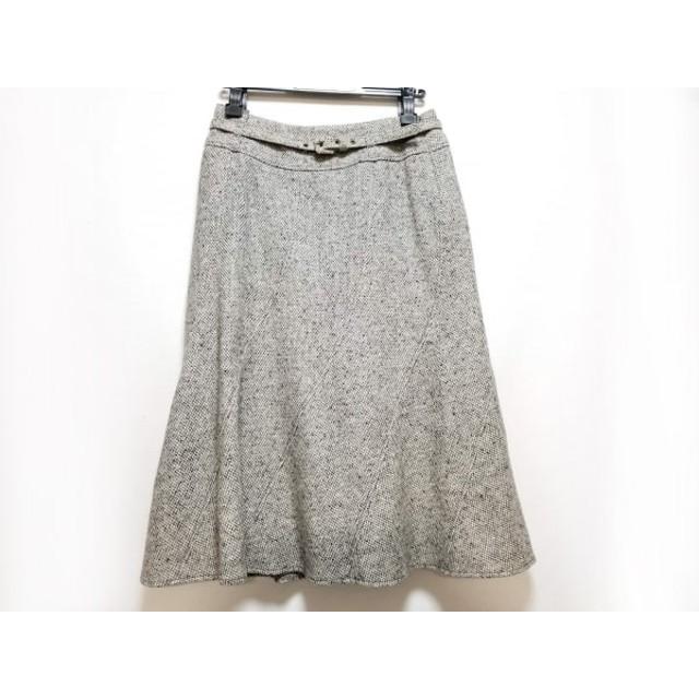 【中古】 マックスマーラ Max Mara ロングスカート サイズ40 M レディース 美品 グレー アイボリー