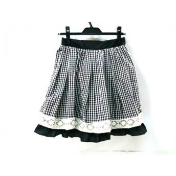 【中古】 アクシーズファム axes femme スカート サイズM レディース ブラック ホワイト マルチ