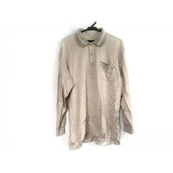 【中古】 バーバリーズ Burberry's 長袖ポロシャツ サイズL メンズ ベージュ