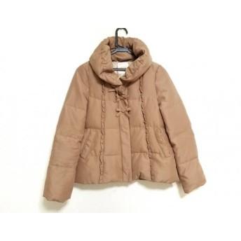 【中古】 ミニマム MINIMUM ダウンジャケット サイズ1 S レディース ベージュ 冬物/リボン