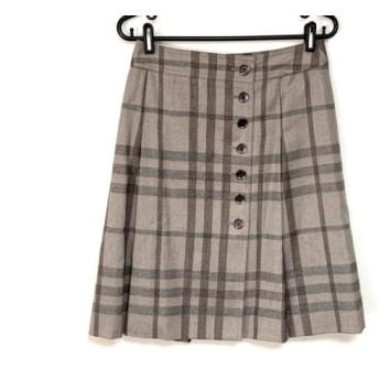 【中古】 バーバリーロンドン スカート サイズ38 L レディース 美品 ライトブラウン ブラウン グレー