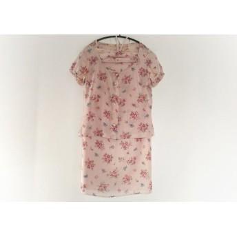 【中古】 ジルスチュアート ワンピースセットアップ サイズS レディース 美品 ピンク マルチ 花柄
