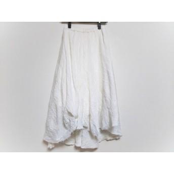 【中古】 アングリッド UNGRID ロングスカート サイズF レディース 白 切りっぱなし加工