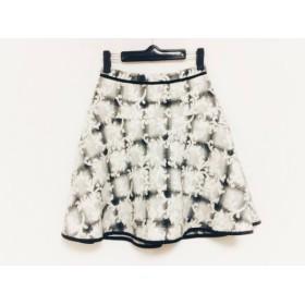 【中古】 アプワイザーリッシェ Apuweiser-riche スカート サイズ1 S レディース ライトグレー 黒 白