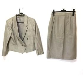 【中古】 アンディ ANDY スカートスーツ サイズ13 L レディース ライトブラウン 肩パッド/ストライプ