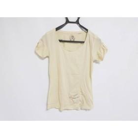【中古】 ディーゼル DIESEL 半袖Tシャツ サイズS レディース ベージュ ダメージ加工