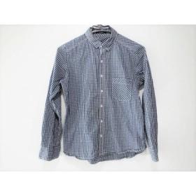 【中古】 バーンヤードストーム 長袖シャツ サイズ1 S メンズ ダークグリーン ネイビー 白 チェック柄