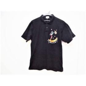 【中古】 カステルバジャックスポーツ CastelbajacSport 半袖ポロシャツ サイズ2 M メンズ 黒 マルチ