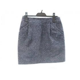 【中古】 アダムエロペ Adam et Rope スカート サイズ36 S レディース ネイビー マルチ