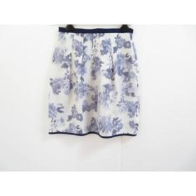 【中古】 ジャスグリッティー JUSGLITTY スカート サイズ2 M レディース アイボリー ネイビー 花柄