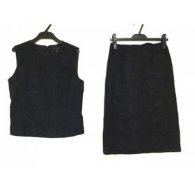 【中古】 エポカ EPOCA スカートセットアップ サイズ40 M レディース 黒 綿