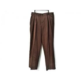【中古】 パパス Papas パンツ サイズ50 XL レディース ダークブラウン