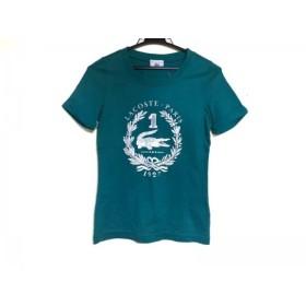 【中古】 ラコステ Lacoste 半袖Tシャツ サイズ38 M レディース グリーン 白