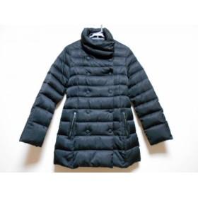 【中古】 ビアッジョブルー Viaggio Blu ダウンコート サイズ2 M レディース 黒 冬物