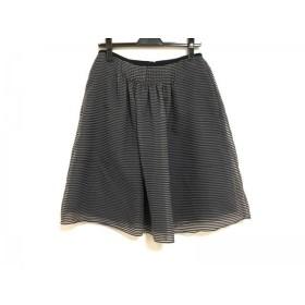 【中古】 エンポリオアルマーニ スカート サイズ40 M レディース 美品 ネイビー 白 ボーダー