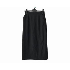 【中古】 クロエ Chloe ロングスカート サイズ40 M レディース 黒 グレー