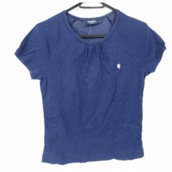 【中古】 ジムフレックス Gymphlex 半袖Tシャツ サイズ14 XL レディース ネイビー ギャザー