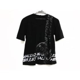 【中古】 バレンザスポーツ VALENZA SPORTS 半袖Tシャツ サイズ38 M レディース 黒 ライトグレー