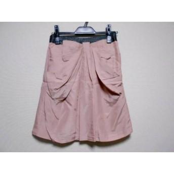 【中古】 アプワイザーリッシェ ミニスカート サイズ2 M レディース ベージュ ダークグレー ラメ