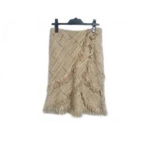 【中古】 トゥービーシック TO BE CHIC スカート サイズ40 M レディース ベージュ 白 ブラウン