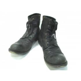 【中古】 フープディドゥ whoop-de-doo ショートブーツ 42 メンズ 黒 レザー