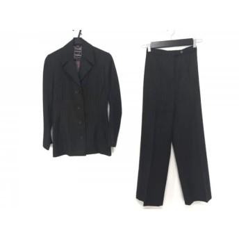 【中古】 ジョセフ JOSEPH シングルスーツ メンズ 黒 ライトグレー ストライプ