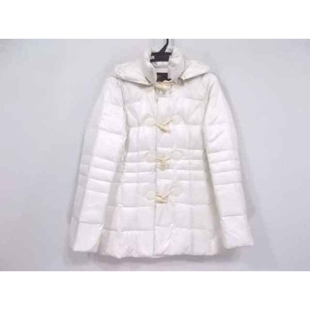 【中古】 ビッキー VICKY ダウンコート サイズ2 M レディース 白 冬物