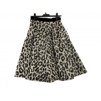 【中古】 ルシェルブルー LE CIEL BLEU スカート サイズ2 M レディース ライトグレー 黒