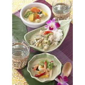 タイ料理専門店 パクチーデリ グリーンカレー3種6食入り(チキン・エビ・野菜)とジャスミンライスセット