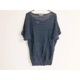 【中古】 ジユウク 自由区/jiyuku 半袖セーター サイズ38 M レディース ダークネイビー メッシュ