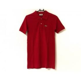 【中古】 ラコステ Lacoste 半袖ポロシャツ サイズ4 XL レディース レッド