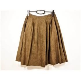 【中古】 フォクシー FOXEY スカート サイズ40 M レディース ブラウン